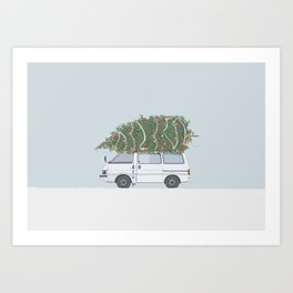 Driving Home For Christmas Art Print