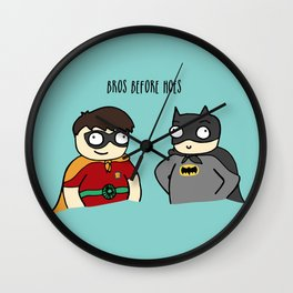 Bros before Hoes Wall Clock