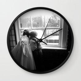 Window Gazing Wall Clock