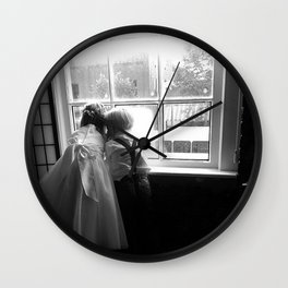 Window Gazing Wall Clock