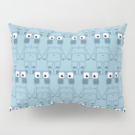 Super cute cartoon blue pig - bring home the bacon with everything for the pig enthusiasts! Pillow Sham