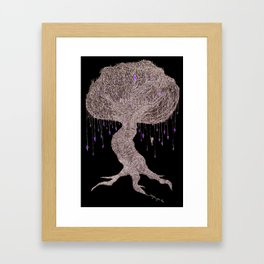 Girl In Tree Framed Art Print