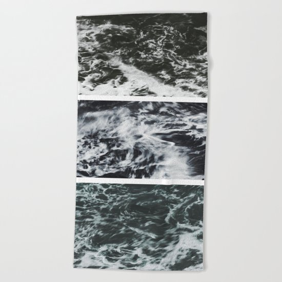 Saltwater Trytych Var II - blacks Beach Towel
