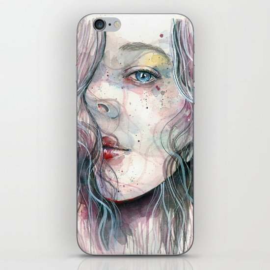 Sleepy violet, watercolor iPhone & iPod Skin