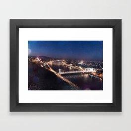 NIGHT TIME IN BUDAPEST Framed Art Print