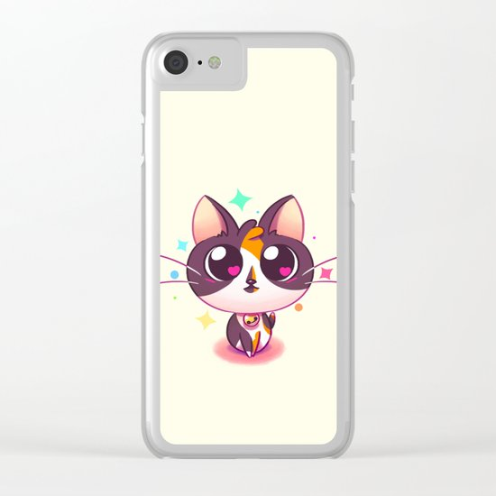 Kitty Love Clear iPhone Case