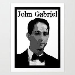John Gabriel Tribute (ID534) Art Print