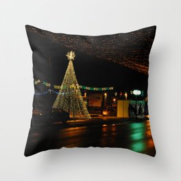 Bor at new years eve  Throw Pillow