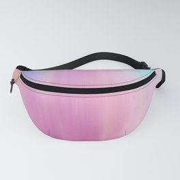 Abstract teal pink watercolor artistic brushstrokes Fanny Pack