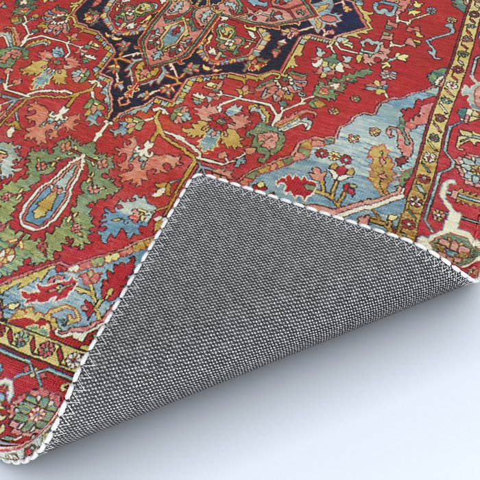 Heriz  Antique Persian Rug Print Rug