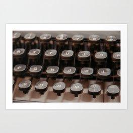 Olivetti vintage typewriter serie - 3 Art Print