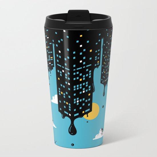 Melting Skyline Metal Travel Mug
