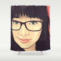 geek Shower Curtains featuring Geek by FalcaoLucas