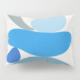 Blue Scoop \\ Abstract Pillow Sham