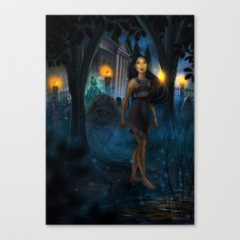 Midnight Mansion Visit by Topher Adam 2018 Canvas Print