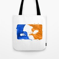 league Tote Bags featuring Major Ink League by Jango Snow