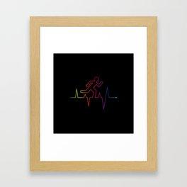 Heartbeat Runnin' Away Framed Art Print