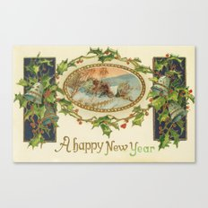 A Happy Vintage New Year Canvas Print