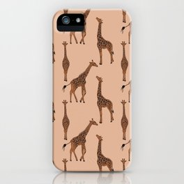 Giraffe neutral pattern iPhone Case