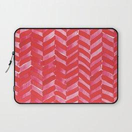 Hot Pink Herringbone Laptop Sleeve