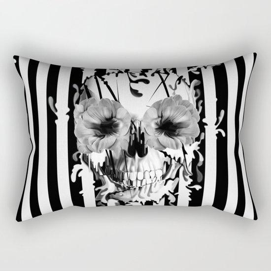 Limbo, Skull with poppy eyes Rectangular Pillow