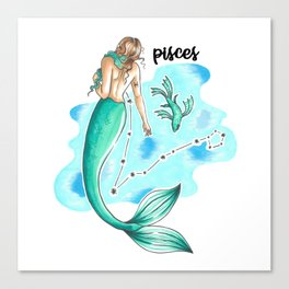Pisces Mermaid Canvas Print