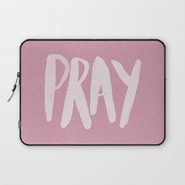 Pray Typography x Rose Laptop Sleeve