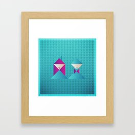 Music in Monogeometry : She & Him Framed Art Print