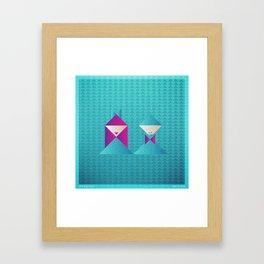 Music in Monogeometry : She & Him Framed Art Print