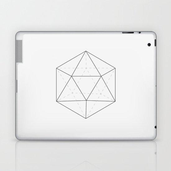 Black & white Icosahedron Laptop & iPad Skin