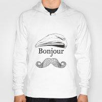 bonjour Hoodies featuring Bonjour by Jacob Waites