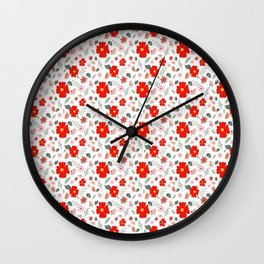 Day - Floral patterns Wall Clock