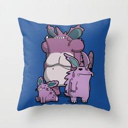 Pokémon - Number 32, 33 & 34 Throw Pillow