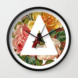 Bastille triangle vintage flowers Wall Clock