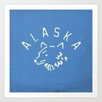 alaska Art Prints featuring Alaska by Roland Lefox