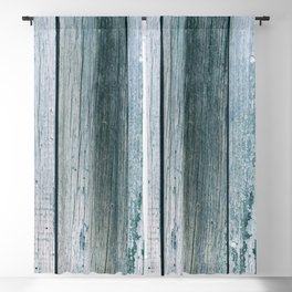 Old wood pattern with blue shades Blackout Curtain