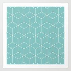 Tiffany Cubes Art Print