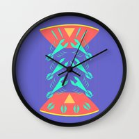 lobster Wall Clocks featuring lobster by pam beach