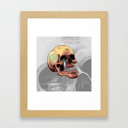 Zia Skull Framed Art Print