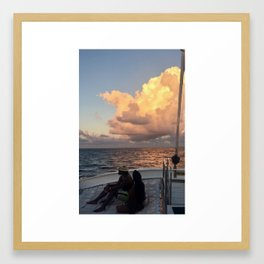 romantic sunset Framed Art Print