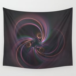 Moons Fractal in Warm Tones Wall Tapestry