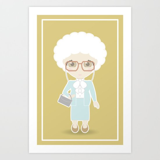 Girls in their Golden Years - Sophia Art Print