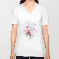 splash V-neck T-shirts featuring Splash by Noreen Loke