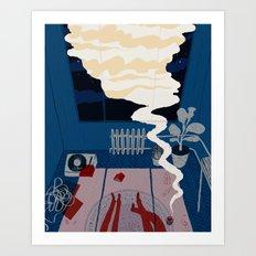 Midnight Talk Art Print