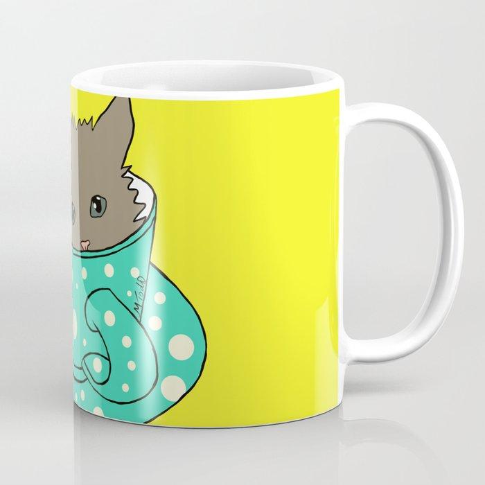 Kitten In A Teacup Coffee Mug