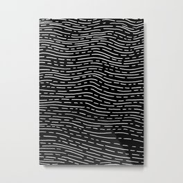 White lines of the waves Metal Print