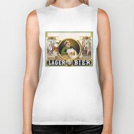 Vintage Lager Beer Advertisement Biker Tank
