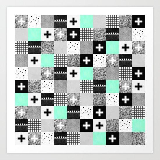 Squares 002 Art Print