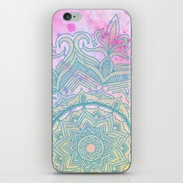 pink splash mandala iPhone Skin