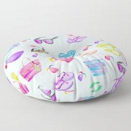 Summer Vacation Accessories Pattern Floor Pillow
